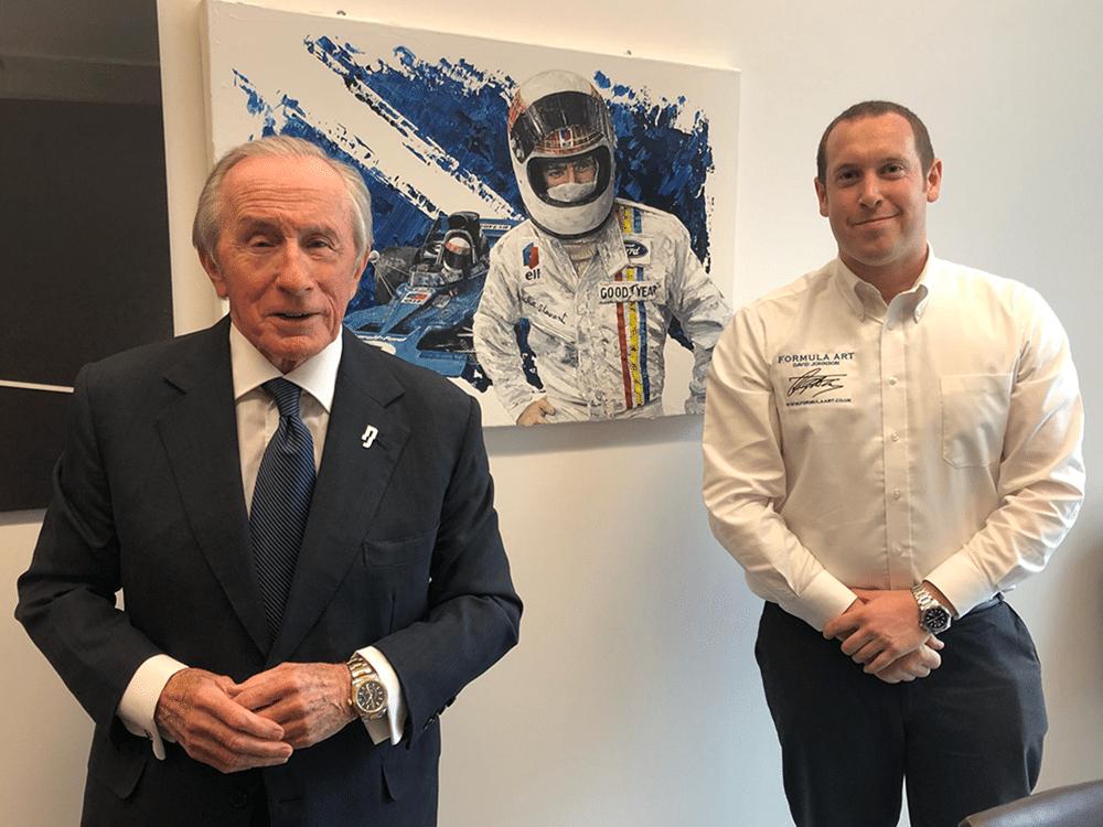 David Johnson with Sir Jackie Stewart