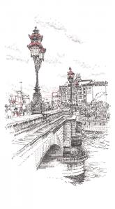 Putney Bridge by Keira Rathbone typewriter artist