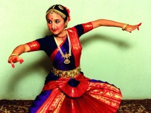 Shalini dancing Indian classical style