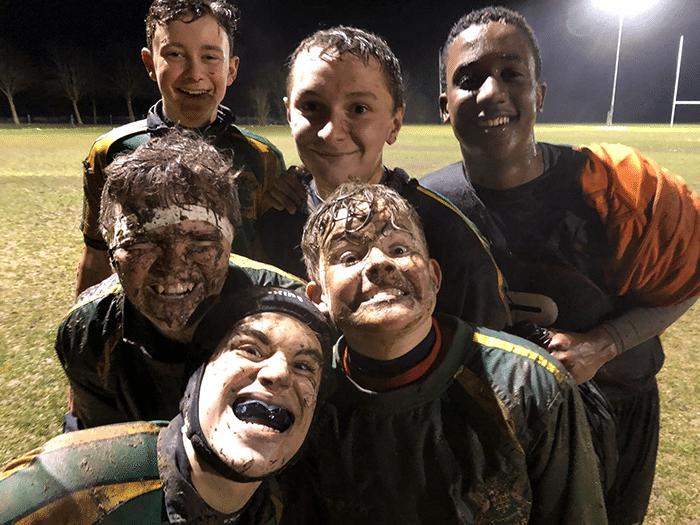 Abingdon RFU U14 muddy