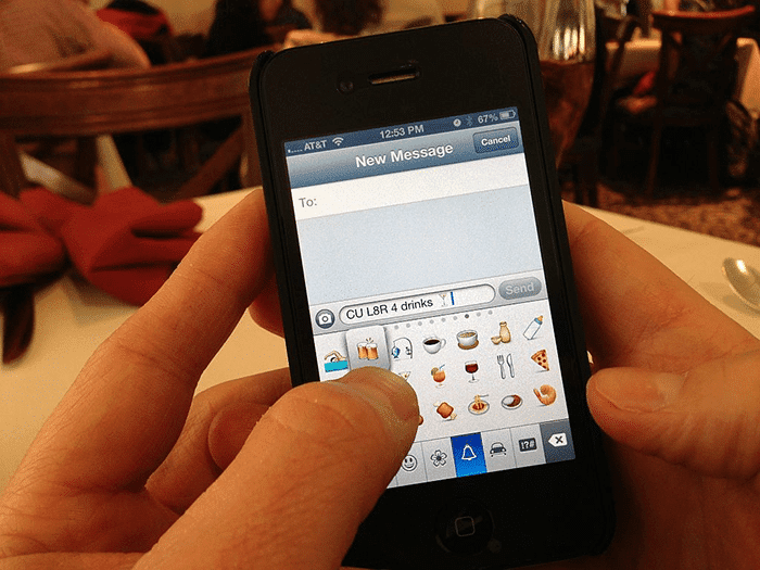 Texting with emojis